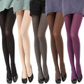 2016 hot sexy women stalls increase 80D candy color elastic fashion sexy velvet pantyhose ladies socks gaiters boothose capris