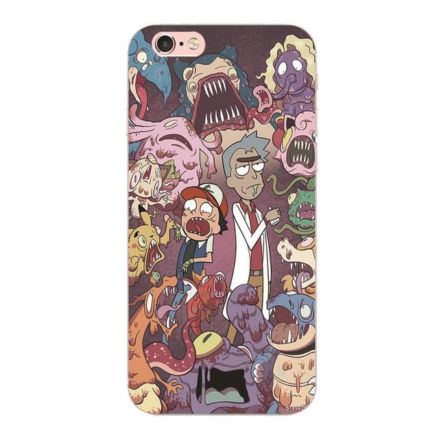 Rick and Morty- Hard plastic cases (iPhone 5 5S 4 4S SE 6 6S 7 Plus and more)