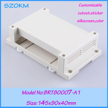 1 piece free shipping electronic din plastic enclosure din rail plastic enclosure plastic electronic box din  145x90x40mm