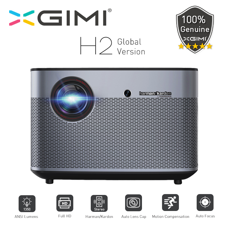 XGIMI H2 Projetor DLP 1920x1080 Full HD Apoio 3D 1350 Ansi Wi-fi Bluetooth Home Theater Beamer 4K vídeo HDMI USB LAN