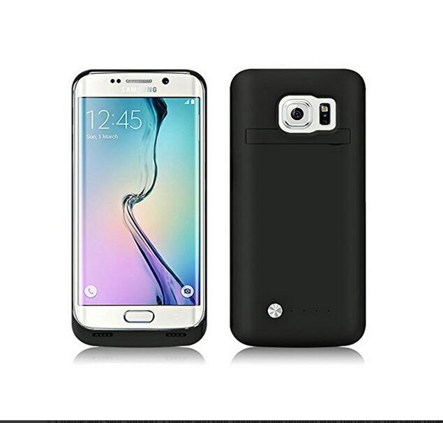 Battery-Case Samsung Galaxy Power S7-Edge Black Portable For Back-Cover External-Backup