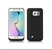 Galaxy S7 edge Portable Charger Battery Case For Samsung Galaxy S7  edge Case Back Cover External Backup Power Bank (black)