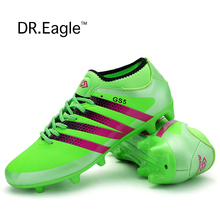 Promo Adult Futsal shoes for football sock boots boys soccer cleats krossovky for footballl shoes kids with ankle bracelet wholesale
