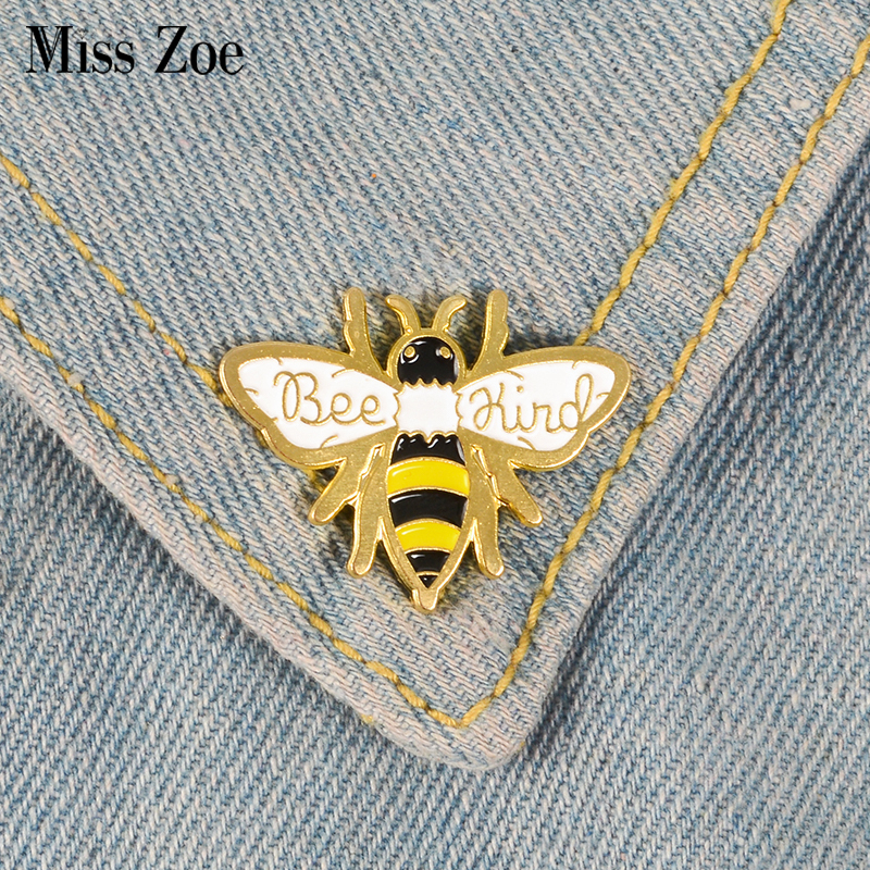 Bee Enamel Pins Autism Awareness Badges Custom Pastel Brooches Denim Shirt Lapel Pin Cartoon Insect Jewelry Gift for Kids(China)