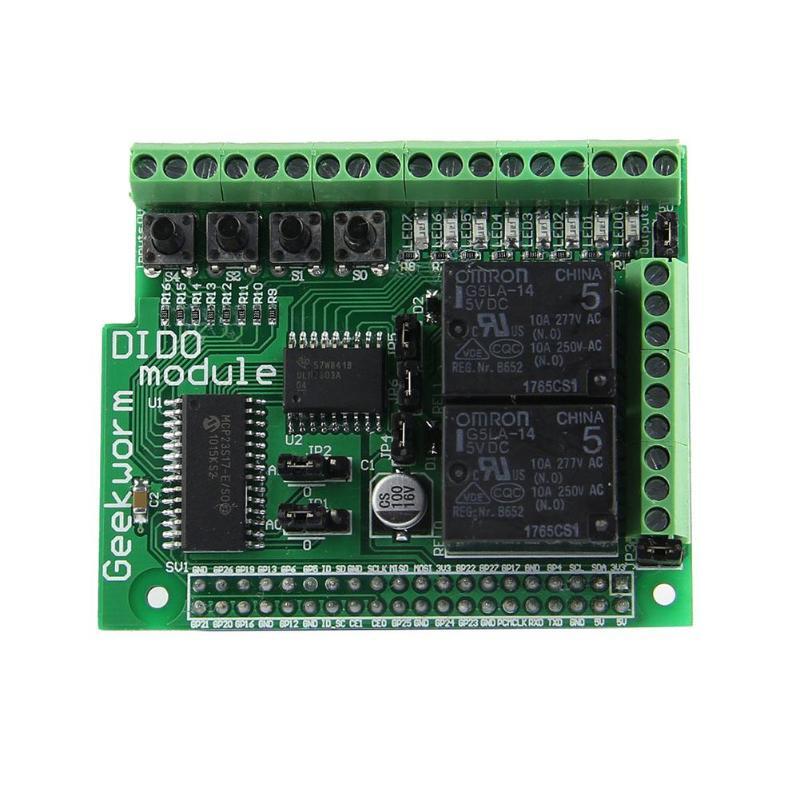 Цифровой Вход Выход доска DIDO модуль доска для Raspberry Pi 2 B + + с Светодиодный индикатор ...