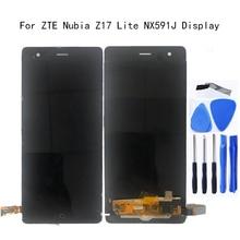"""5.5 """"العرض الأصلي ل ZTE النوبة Z17 لايت NX591J شاشة الكريستال السائل محول الأرقام بشاشة تعمل بلمس استبدال ل النوبة NX591J طقم تصليح"""