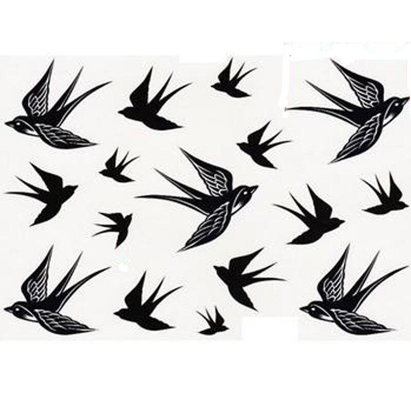 beautywaterproof tattoo stickers for body art swallow bird pattern