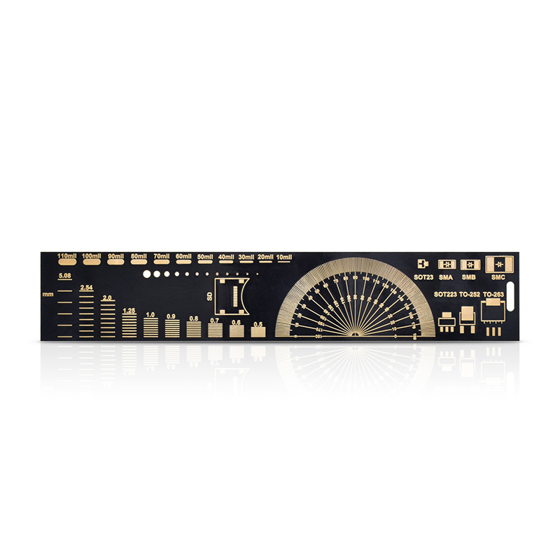 10pcs/lot Multifunctional PCB Ruler EDA Measuring Tool High Precision Protractor 20CM Black