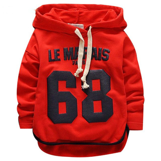 2018 New Baby Boys Hoodies Clothes Spring Letter Full Sleeve Cotton Baby Kids Sweatshirts Childrens Clothing for 1-3 Years