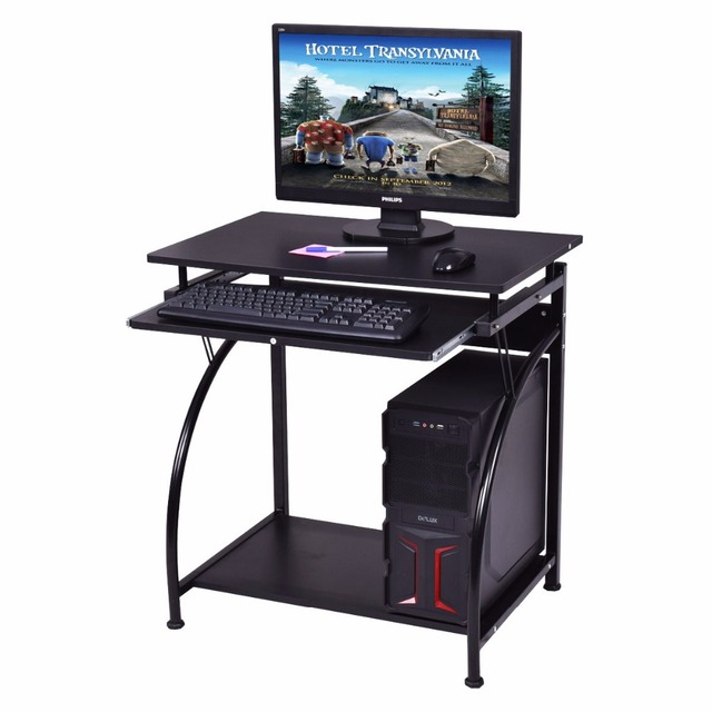 Goplus Computer Desk PC Laptop Table Students Study Workstation Desk Home  Office Furniture Black Modern Desks