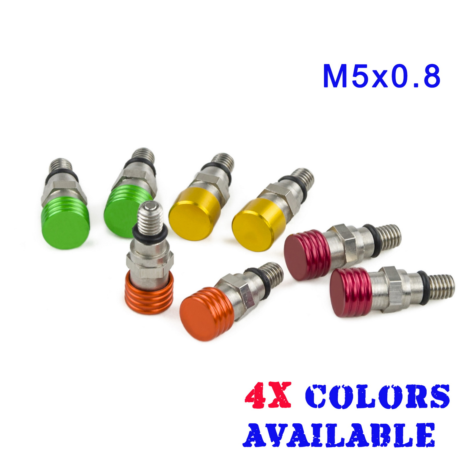 M5x0.8 Мотокросс Вилка воздуха, Кровинки сброса давления для YAMAHA YZ85 YZ125 WR250 YZF250 YZF450 400 426 450 TTR230 TTR250