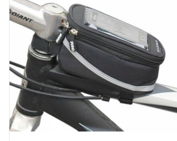 New Cycling <font><b>Bike</b></font> Bicycle Frame Front Tube <font><b>Bag</b></font> Touch Phone Case For iPhone 4/4S/5 image
