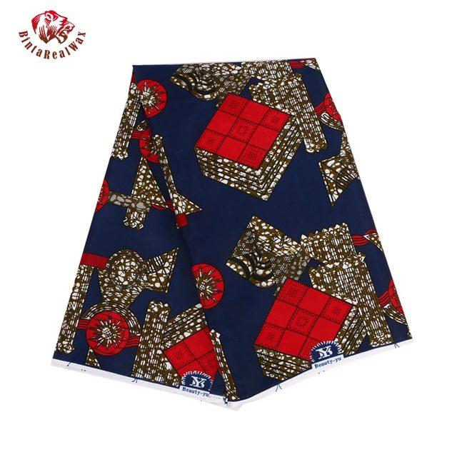 100% Polyester Wax Prints Fabric 2018 Ankara Super Hollandais Wax High Quality African Fabric for Party Dress PL584
