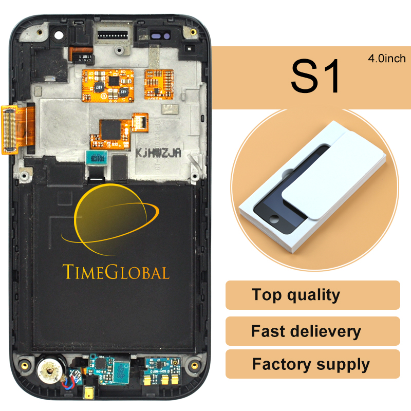 10pcs Time-limited Rushed For Samsung S1 I9000 Lcd Display With Touch Screen Digitizer Assembly Frame Free Shipping