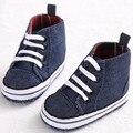 Primavera Otoño Clásico Bebé Recién Nacido Primeros Caminante Zapatos Infantiles Del Prewalker Botas Botines de Lona Boy Kids Alto Zapato Superior