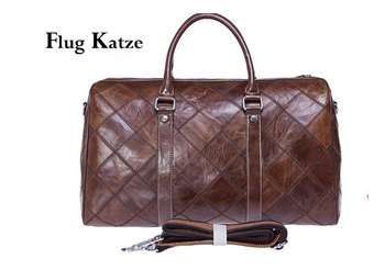 Flug Kazte  Super Large Genuine leather Travel Bag Italian Leather Weekender  Cowhide Duffle