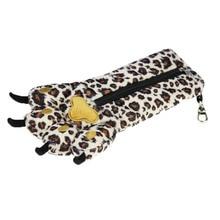 Leopard Paw Animal Plush Toys Hobbies Novelty Pendant Creative Pencil Bag Gift for Boys Girls Joke