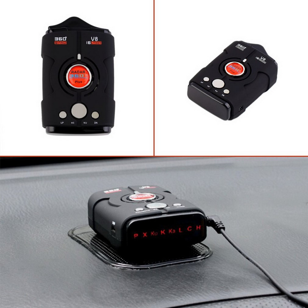 Car-Radar-Detector 16-Band Led-Display Laser Ku Ka NK XK Russia/english-Version V8 360-Degree