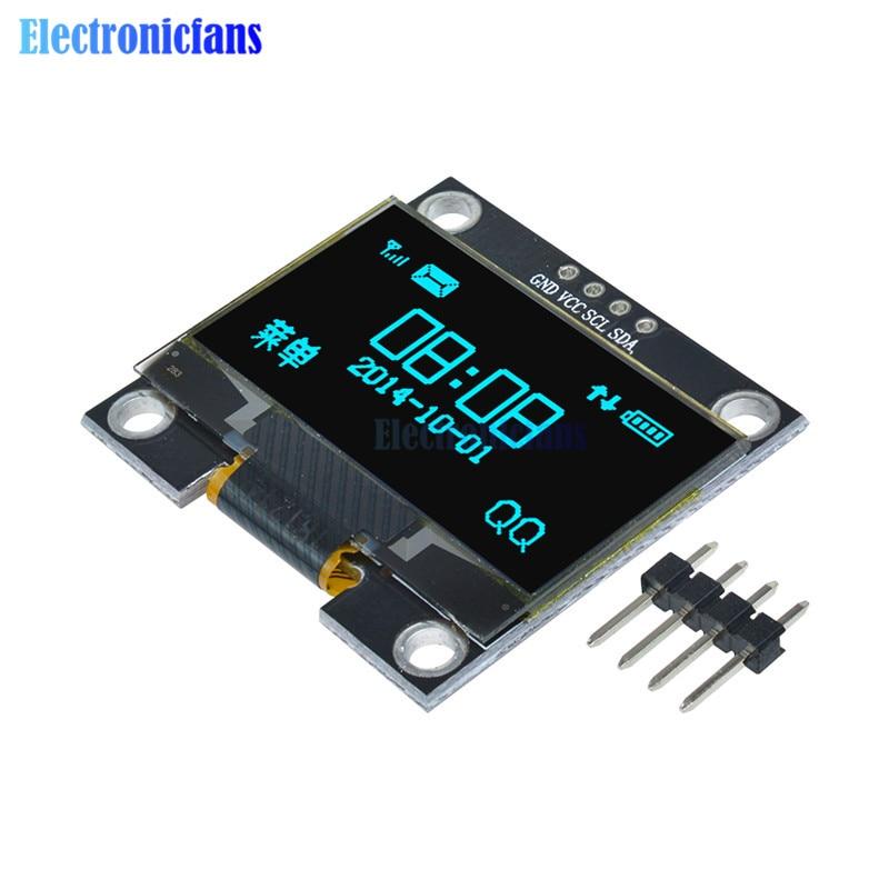"White 1.3/"" OLED LCD Display Module IIC I2C Interface 128x64 3-5V For Arduino"