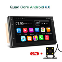 2 Din Car Radio GPS Navigation Android 6.0 Car Audio Player Quad Core Touch Screen Car radio USB Bluetooth Player Autoradio
