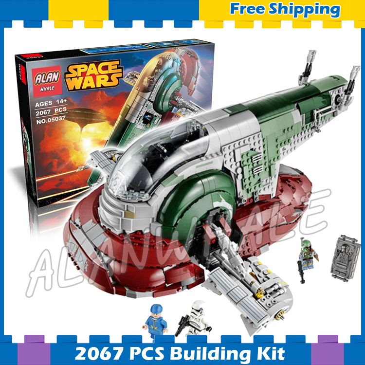 2067pcs Space Wars Universe New 05037 Slave I Model Building Blocks Great Gifts Sets Playset Kit Gifts Compatible With Lego