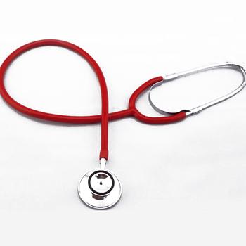 Stetoskop pomoc stetoskop jednogłowy przenośny sprzęt medyczny urządzenie do osłuchiwania DC88 tanie i dobre opinie Breathleshades Stethoscope Black Gray Red Yellow 100g PVC+Aluminum 47mm 30*20*5CM 1 pc