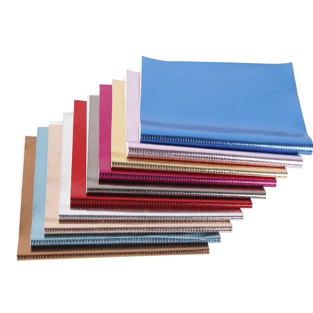 20*34cm Printed PU Systhetic Leather Fabric Sheets Laser Fabric Hair Bows DIY