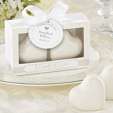 """Свадебный подарок для гостя- керамические сувениры """"тире любви"""" Керамические сердца Солонка и перца шейкеры вечерние подарки 30 коробок/лот"""