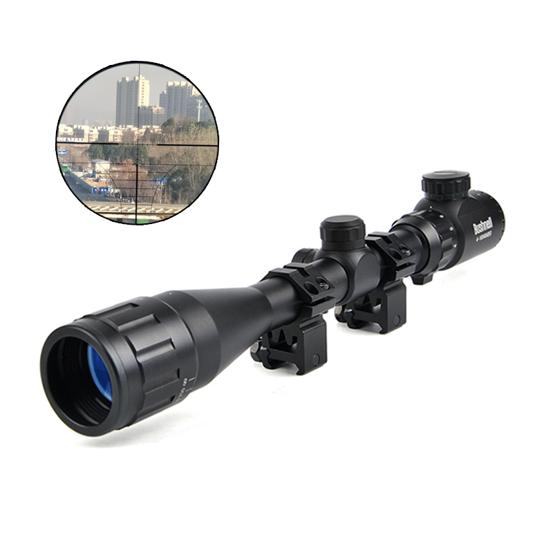 BUSHNELL 4-16X40 AOEG Riflescope Hunting Illuminated Green&Red Dot Sight Crosshair Sight Rifle Scope for Airsoft Air Guns Caza