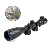 Bushnell 4 16X40 AOEG Riflescopes Hunting Red Green Dot Illuminated Crosshair Sight Rifle Scope For Airsoft