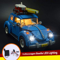 legoing technic 10252 Compatible with 21003 Creator series Volkswagen Beetle Blocks LED light up kit (only light included)