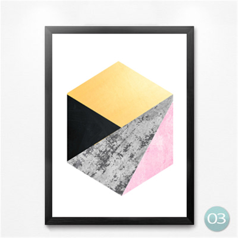 Nordic Modern Geometric Shape Canvas Canvas Prints Pictures Abstract Art Decorative Painting Print Poster Painting in Painting Calligraphy from Home Garden