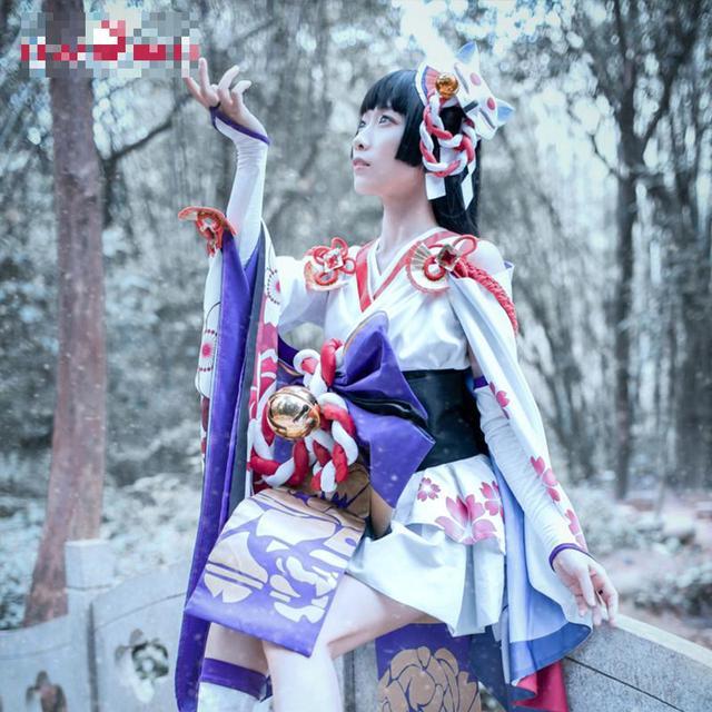 Onmyoji Yuki Onna Cosplay Japanese Snow Fairy Idolized Kimono Costume Japanese Uniform Game Cosplay 1