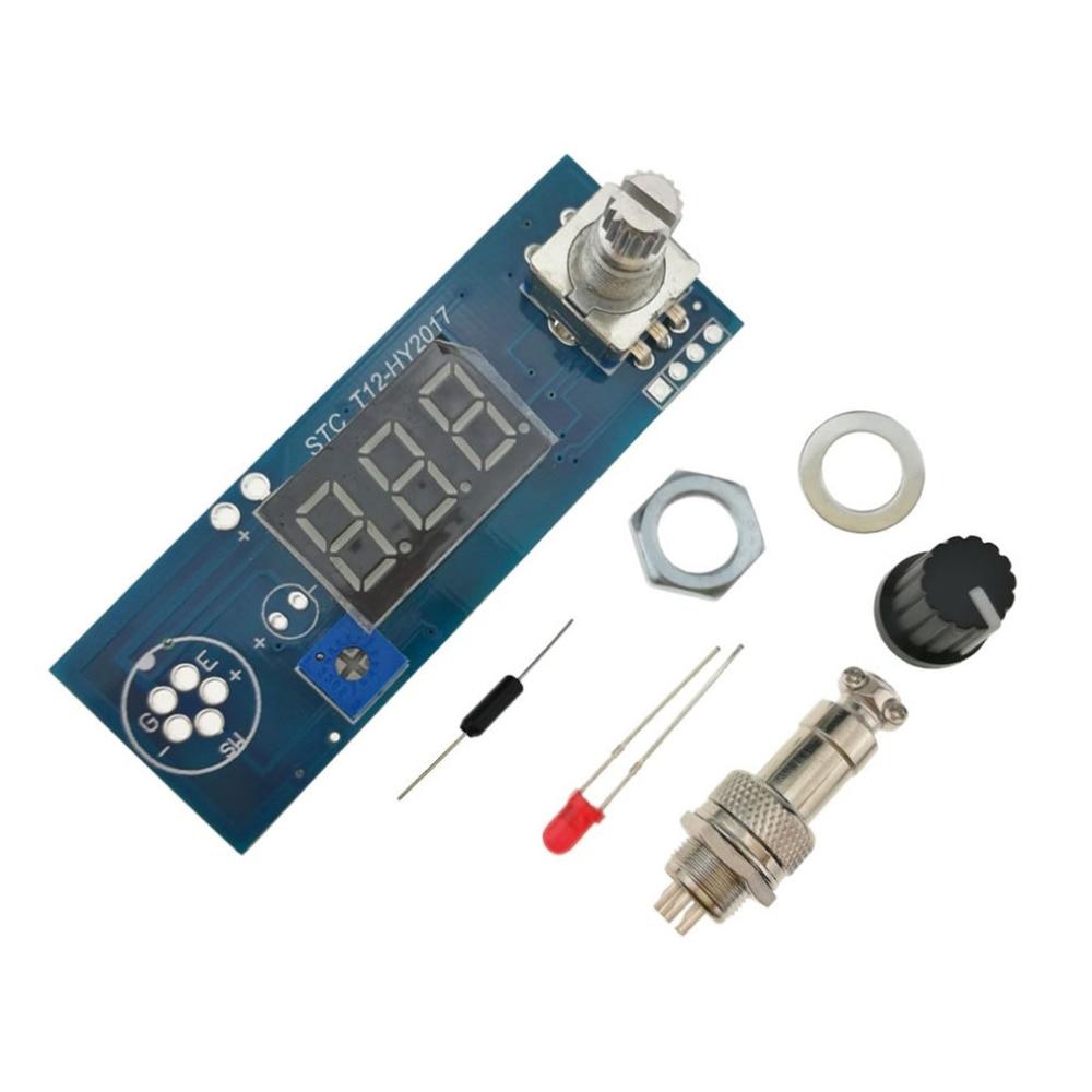 Temperatura Control Board para T12 Estación de soldadura Digital hierro controlador de pantalla STC máquina de soldar Panel