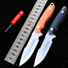 2 Handle Colors Small Survival Straight Knife D2 Satin Blade G10 Handle Fixed Blade Knives With K Sheath Outdoor EDC Tools цены онлайн
