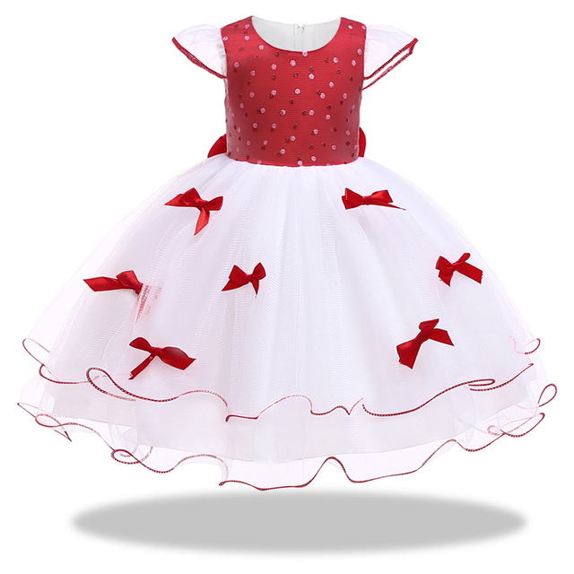 6999eb260c9e Baby Girl Pageant Wedding Dresses With Hat Infant Princess Little ...