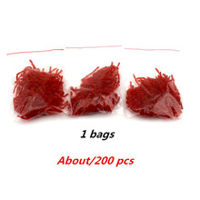 Hot-selling 200pcs Smell red worm lures 3cm soft bait carp fishing lure set artificial fishing tackle Bloodworm Lure with Attrac