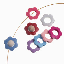 10Pcs 30mm Flower Shape Wood Beads Spacer Beading Wooden Beads For Jewelry Making Decoration Care Teething Toys DIY Bracelets