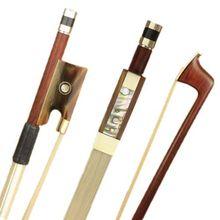 1 Professionelle Brasilien Schwarz Holz 4/4 Violine Bogen Nickel Silber Teile AAA Natürlichen Weißen Bogen Haar Beste Balance