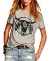 2016 summer new Fashion women street bulldog print wild round neck short sleeve Women T-shirt female loose Tops Tees S2260