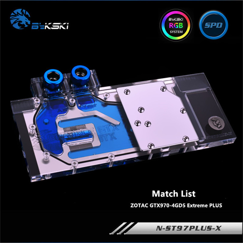 Bykski Full Coverage GPU Water Block For ZOTAC GTX970 Extreme PLUS Graphics Card N-ST97PLUS-X vg 86m06 006 gpu for acer aspire 6530g notebook pc graphics card ati hd3650 video card
