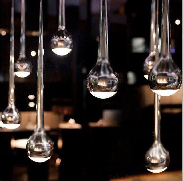 Led Hanging Lamp Light Pendant Lighting Bar Steel Lights Creative Pendant Light Modern Plated Silver Club Stair Aisle Metal modern minimalist creative led pendant lights northern europe simple hanging lamp for bar home lighting plated bulb