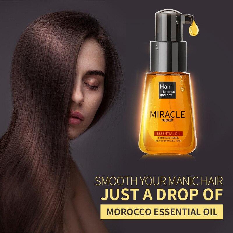 70ml aceite de argán marroquí acondicionadores de cabello Esencia de cuidado nutritiva reparación dañada mejorar el tratamiento del cabello esencial aceite TSLM2 Tratamientos de cuero cabelludo y cabello    - AliExpress