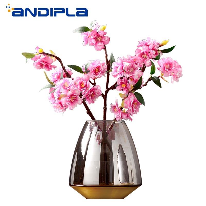 Style européen Vase en verre créatif bureau hydroponique conteneur fleur Arrangement Vase de mariage décor à la maison ornements nouveau