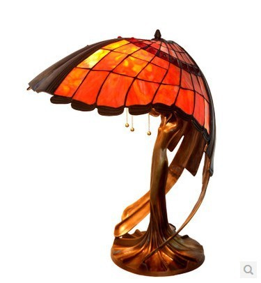Tiffany Lamps Flying Female Living Room Full Of High Grade Copper Antique  Glass Lamps Art