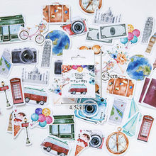 45/46Pcs A Person's Travel Stickers Kawaii Paper Adhesive Sticker For Scrapbooking Home Decoration Diary Diy Label Seal Sticker(China)