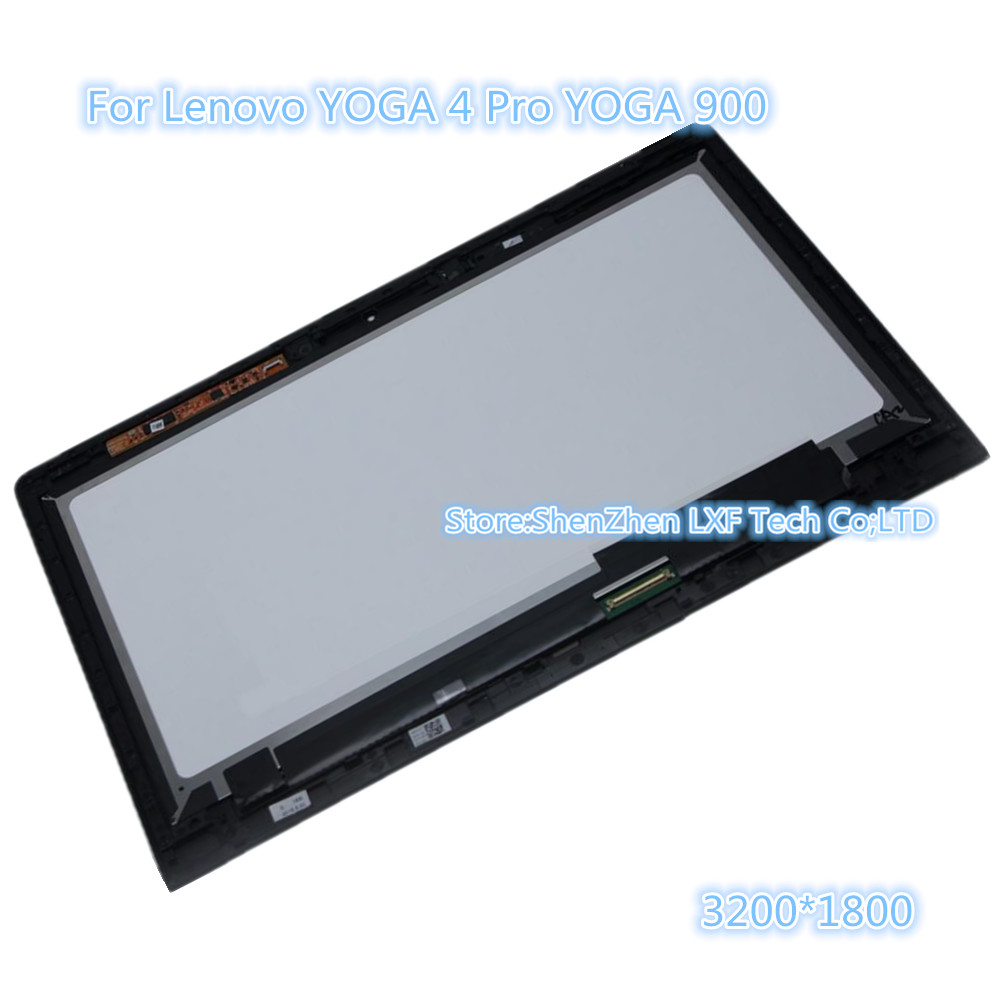For Lenovo YOGA 4 Pro YOGA 900 LTN133YL05 LCD Display Touch Screen Digitizer Replacement Panel Part +Frame Lcd Assembly