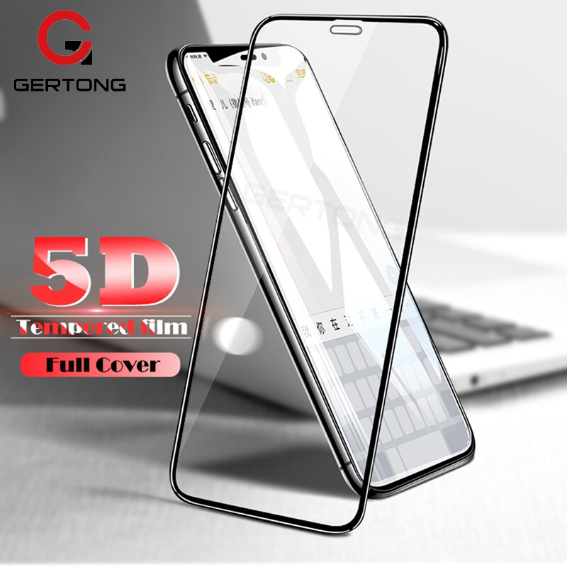 5D Full Cover Tempered Glass For iPhone XS XR Max X Screen