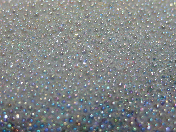 0 6 08mm tiny iridescent fake sugar sprinkles microbead half ounce 10grams clear glass miniature micro bead marbles nail caviar in Rhinestones Decorations from Beauty Health