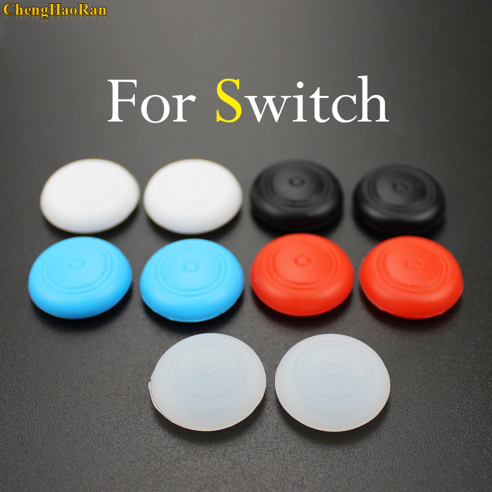 ChengHaoRan 2pcs Joystick Caps Colorful Silicone Analog Grip Controller button cap cover for Nintendo Switch NS nintend switch in Replacement Parts Accessories from Consumer Electronics